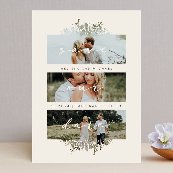 """""""Whispers"""" - Save The Date Cards in Stone by JeAnna Casper."""