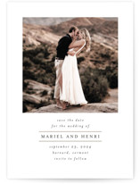 This is a white save the date by Chris Griffith called Simplicity of Love with standard printing on recycled in standard.