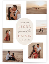 This is a beige save the date by Hooray Creative called Sixpence with standard printing on smooth signature in standard.
