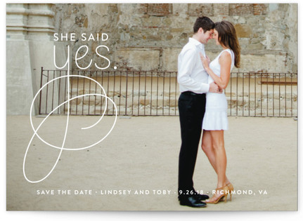 photo of Simply Engaged Save The Date Cards