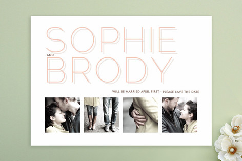 Silver Lining Save The Date Cards