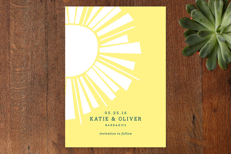 Sunshine Save The Date Cards