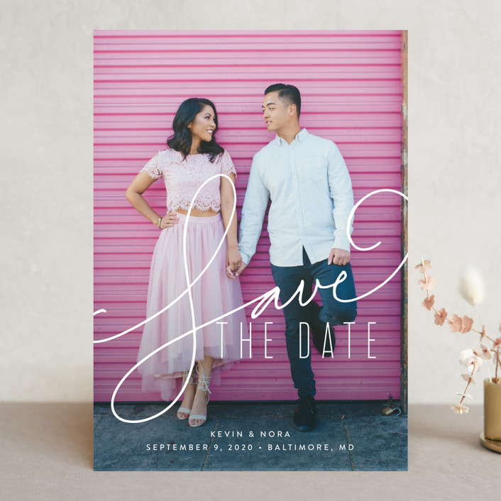 """""""Signature"""" - Save The Date Cards in Lace by Jessica Williams."""