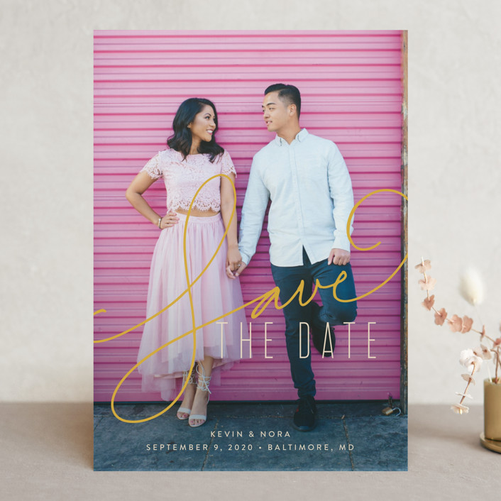 """""""Signature"""" - Save The Date Cards in Antique by Jessica Williams."""