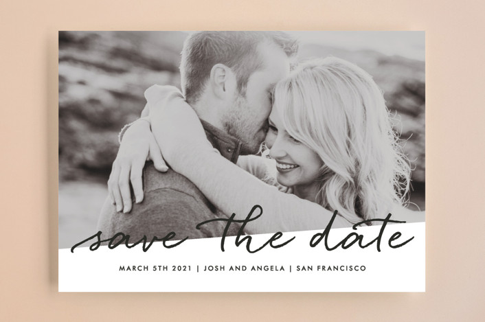 """Scripted"" - Save The Date Cards in Cloud by Roxy Cervantes."
