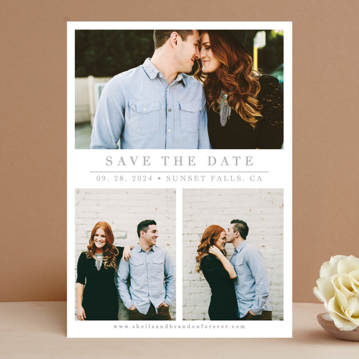 """The Simple Things"" - Save The Date Cards in Cement by Giselle Zimmerman."