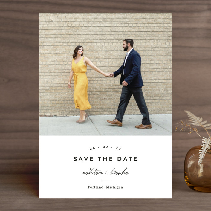"""This Modern Love"" - Save The Date Cards in Onyx by Chryssi Tsoupanarias."