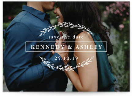 Eternal Leaves Save The Date Cards