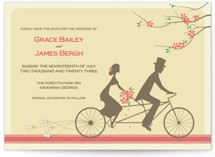 This is a yellow save the date by Letter19Design called Journey Together with standard printing on signature in standard.