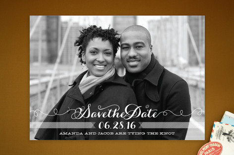 Ties that Bind Save The Date Cards