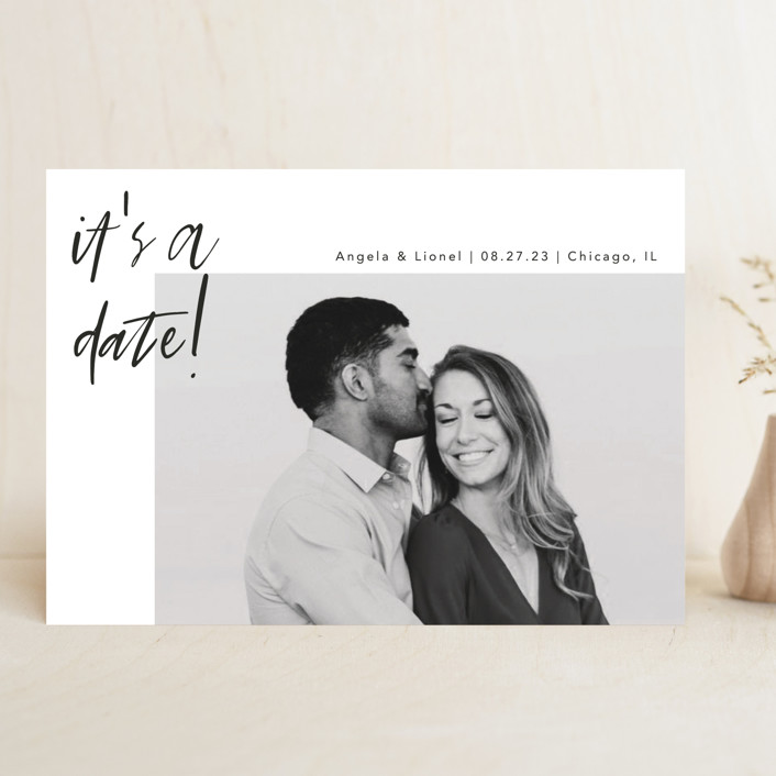 """""""A Date"""" - Save The Date Cards in Ink by lulu and isabelle."""
