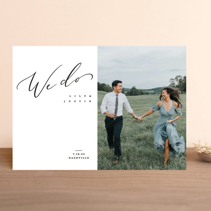 """""""Graceful"""" - Save The Date Cards in Lily by Owl and Toad."""