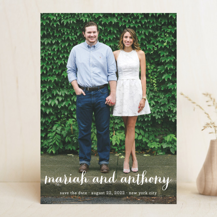"""""""Prescott"""" - Save The Date Cards in Cotton by Roxy Cervantes."""