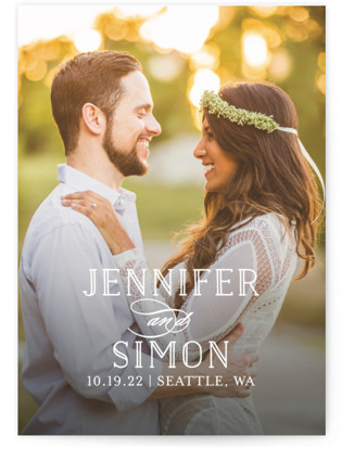 photo of Sunshine Of Your Love Save The Date Cards