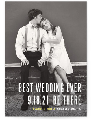 photo of Be There Save The Date Cards