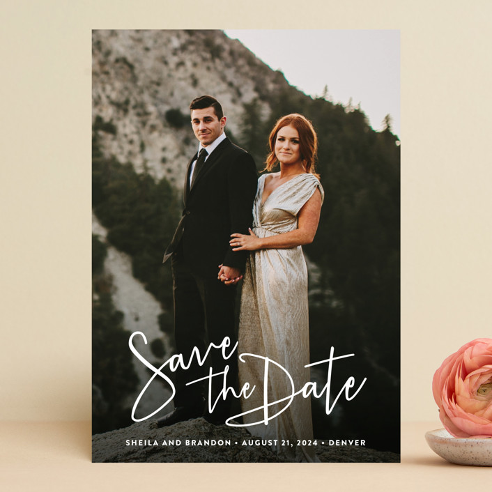 """""""Stylish Script"""" - Save The Date Cards in Cloud by Hooray Creative."""