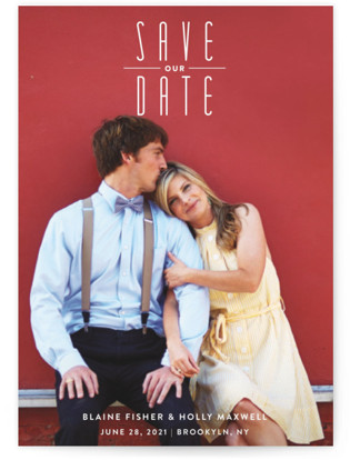 photo of Uptown Fun Save The Date Cards