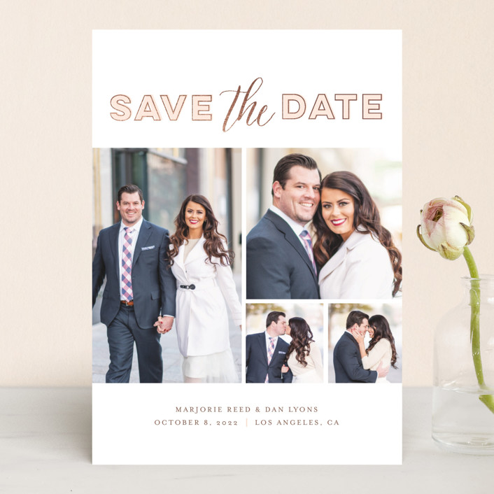 can t just pick one save the date cards by frooted design minted