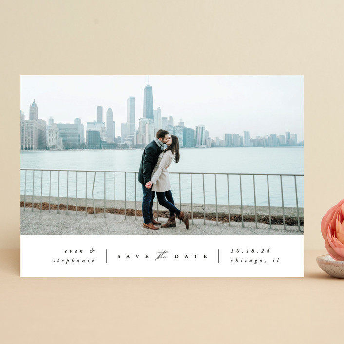 """""""The Classic"""" - Save The Date Cards in Cloud by Carolyn Nicks."""