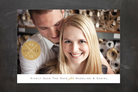 Criss Cross Save The Date Cards
