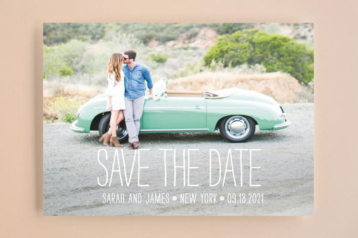 """Happiest Homestyle"" - Bohemian Save The Date Cards in Snow by Max and Bunny."