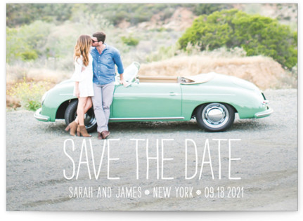 photo of Happiest Homestyle Save The Date Cards