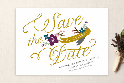Fanciful Florals Save The Date Cards