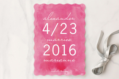 Simply Sweet Watercolor Save The Date Cards