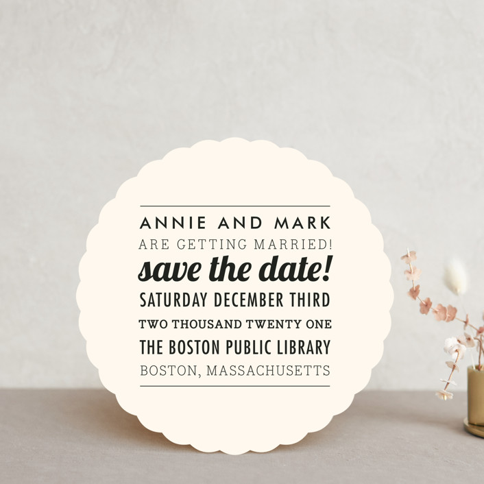"""""""The Square Type"""" - Modern, Modern Save The Date Cards in Crme by Design Lotus."""