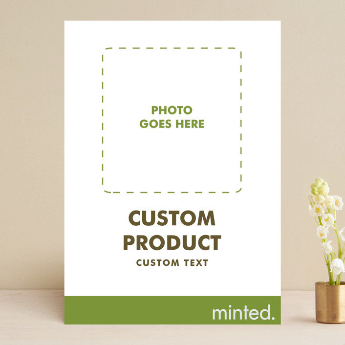 """FOIL Portrait Custom"" - Save The Date Cards in Charcoal by Minted Custom."