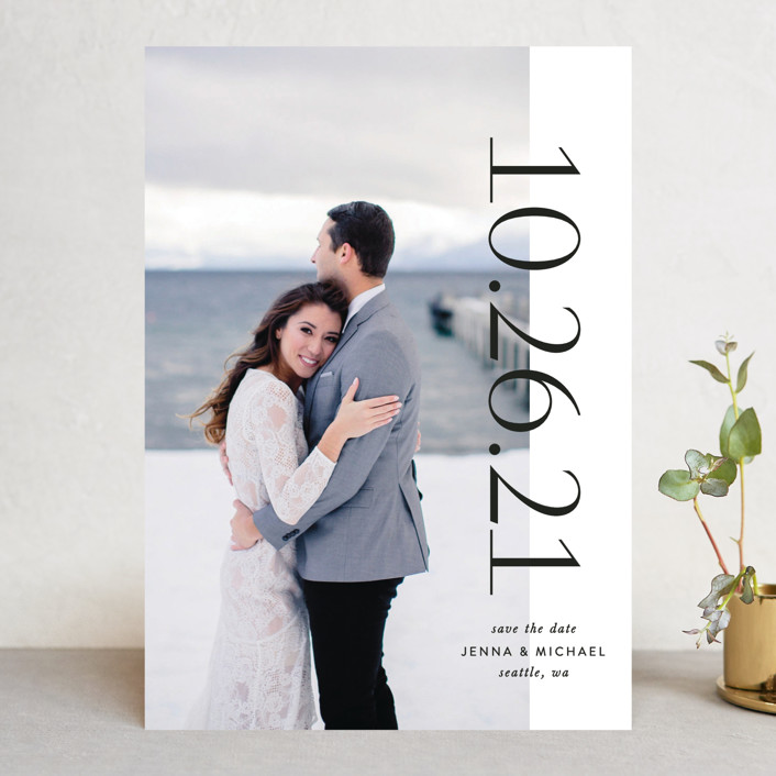 """""""Charmant"""" - Save The Date Cards in Tuxedo by Lauren Chism."""