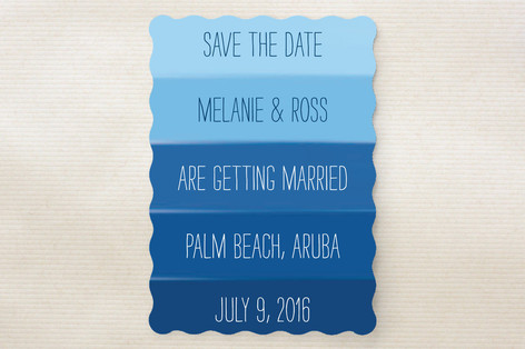 Ocean Blue Save The Date Cards