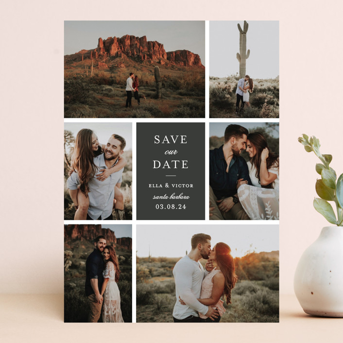 """multitude"" - Save The Date Cards in Moon by Sara Hicks Malone."