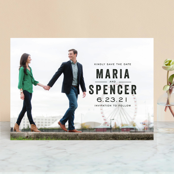 bold reminder save the date cards by katie wahn minted