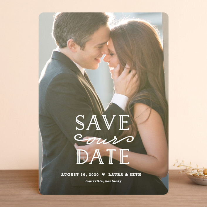 """""""XOXO"""" - Full-Bleed Photo Save The Date Cards in Snow by Carolyn MacLaren."""