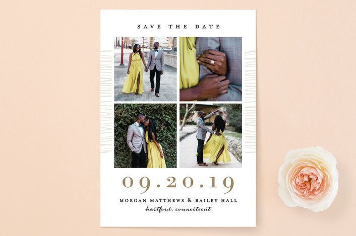 """Love Square"" - Modern Save The Date Cards in Glacier by Michelle Taylor."