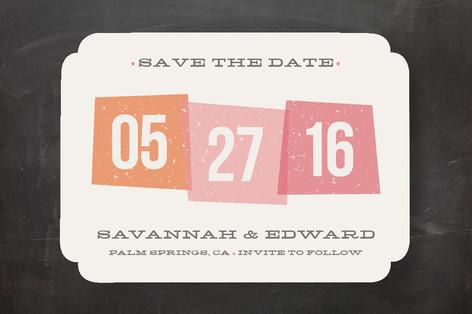 Vintage Blocks Save The Date Cards