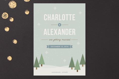 Winter Wonderland Save The Date Cards