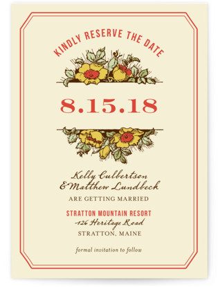 photo of Harvest Floral Save The Date Cards