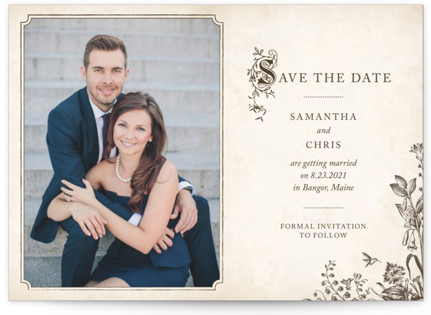 photo of Story Book Save The Date Cards