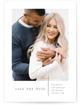 This is a white save the date by Erin Deegan called A Simple Love with standard printing on pearlescent in standard.