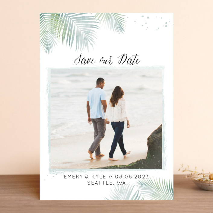 """Sunny Wedding"" - Save The Date Cards in Seafoam by My Splendid Summer."