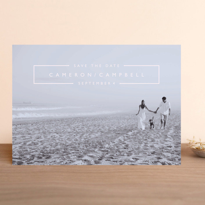 """""""Mag Spread"""" - Save The Date Cards in Cloud by Kate Ross."""
