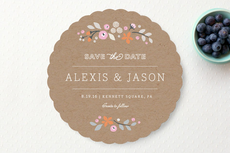 Crafted Primrose Save The Date Cards