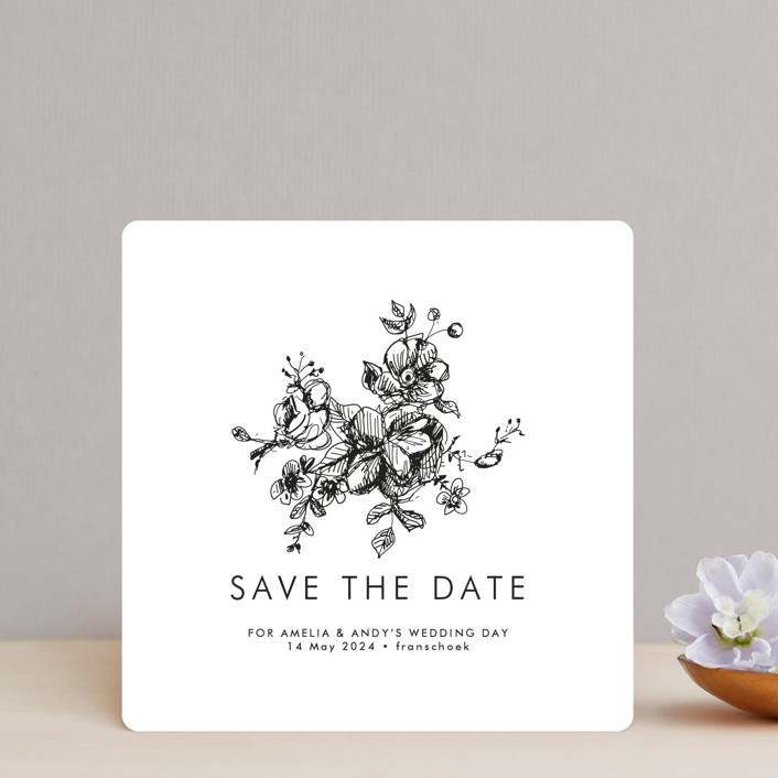 """""""Elegance Illustrated"""" - Save The Date Cards in Ice by Phrosne Ras."""