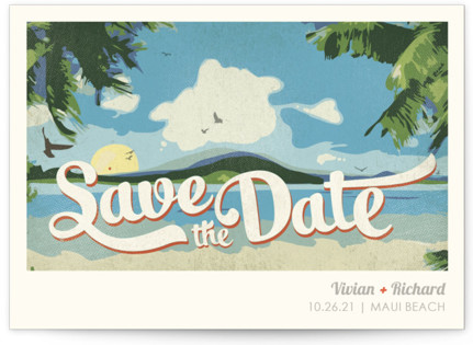 photo of Vintage Tropical Save The Date Cards