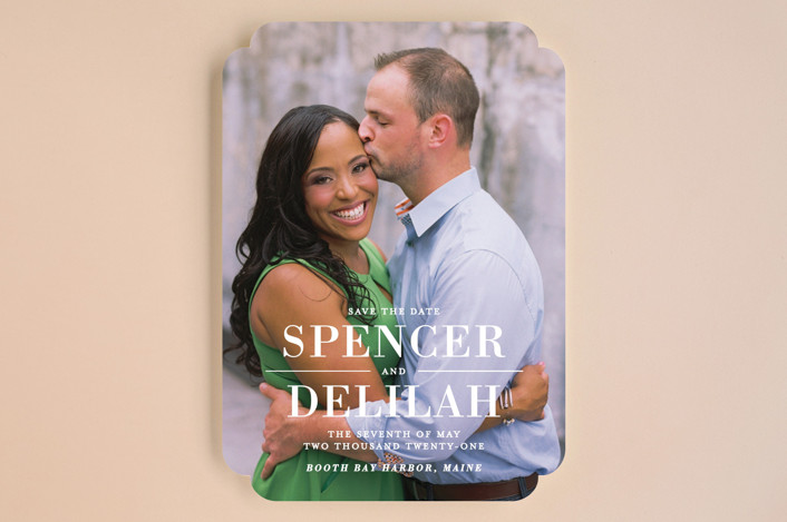 """""""Effortless"""" - Full-Bleed Photo, Modern Save The Date Cards in Frost by Lauren Chism."""