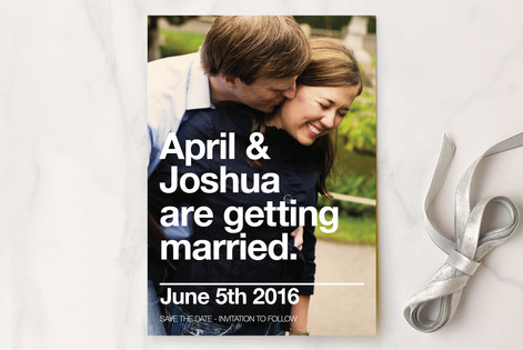Helvetica Love Save The Date Cards