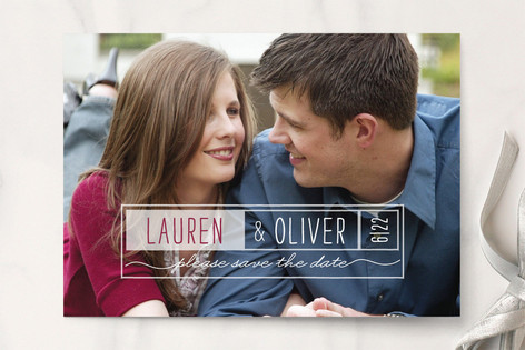 Double Frames Save The Date Cards