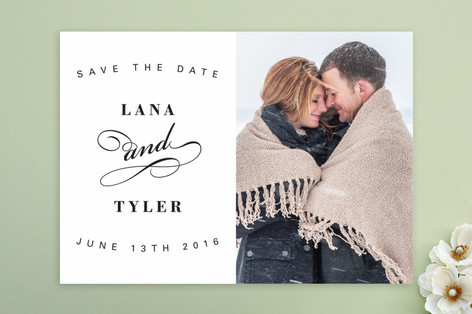 Fancy Flourish Save The Date Cards